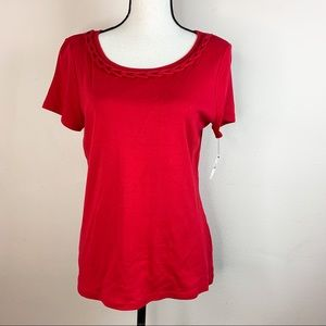 NWT Talbots Pima CottonShort Sleeves Scoop Shirt